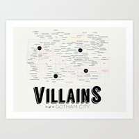 Villains of Gotham Art Print