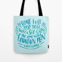 Woody Guthrie On How Peo… Tote Bag