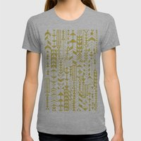 Golden Doodle Arrows Womens Fitted Tee Athletic Grey SMALL