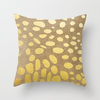 Katzengold Throw Pillow