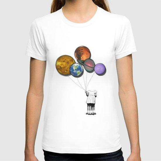 Planet balloon girl T-shirt