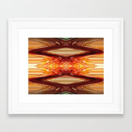 Intrepid Zigzags Framed Art Print