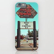 Roadside paradise iPhone 6 Slim Case