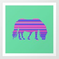 Shaggy Shetland Stripes Art Print