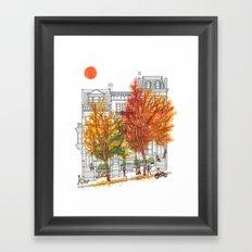 Autumn Cityscape Framed Art Print