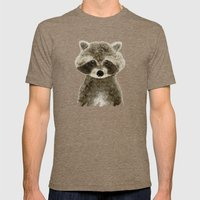 Little Raccoon Mens Fitted Tee Tri-Coffee SMALL
