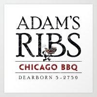 Adam's Ribs Art Print