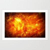 Surface Of The Sun Art Print