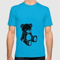 Bear Mens Fitted Tee Teal SMALL