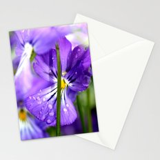 purple pansys  Stationery Cards