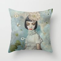 Bumble Bee Beauty Throw Pillow