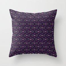 Pixel Heart Love Throw Pillow