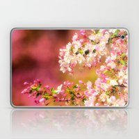 Pretty and Pink crab apple blossoms Laptop & iPad Skin