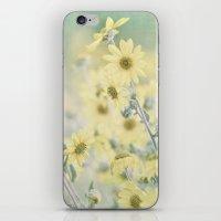 Pastel Wildflowers Yellow Helianthus Daisies -- Botanical Landscape iPhone & iPod Skin