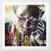 Reverie - Ethnic African portrait Art Print