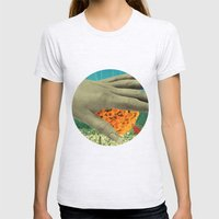 wake up and smell the flowers Womens Fitted Tee Ash Grey SMALL