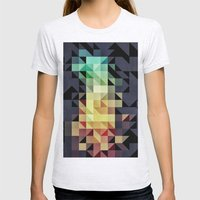 :: Geometric Maze IV :: Womens Fitted Tee Ash Grey SMALL