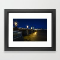 Newport Night Bridge  Framed Art Print