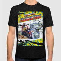 Super Hang-On Mens Fitted Tee Tri-Black SMALL