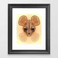 War Mask Framed Art Print