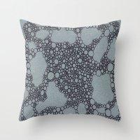 Black Bubbles  Throw Pillow
