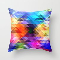 Textural Geometry Of Col… Throw Pillow