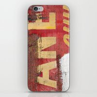 Yellow Letters On Red iPhone & iPod Skin
