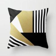 Glamorous Stripes Throw Pillow