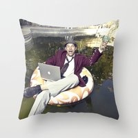 Work Ethics Be Damned Throw Pillow