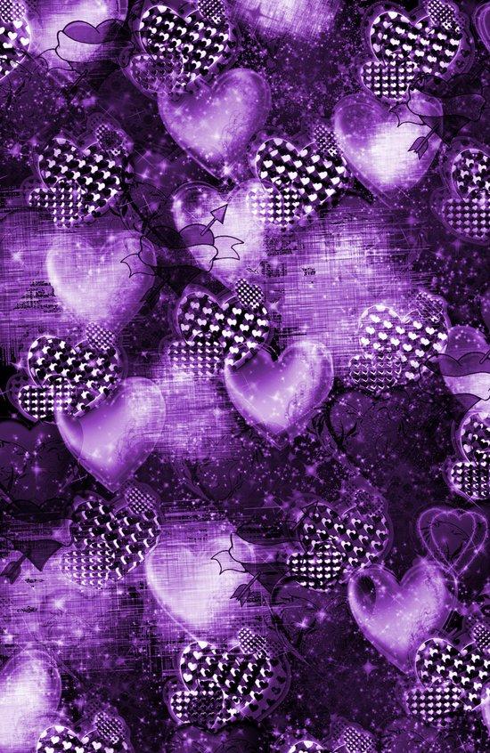 Light Bulb Hearts Series (purple) Art Print