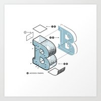 The Exploded Alphabet / … Art Print