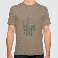 Stripe Scull Mens Fitted Tee Tri-Coffee SMALL