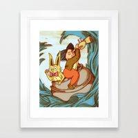 Cauldron in the Sea Framed Art Print