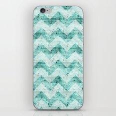 Teal Wood Chevron  iPhone & iPod Skin