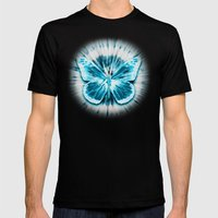 Rising Butterfly Mens Fitted Tee Black SMALL