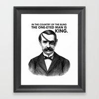 ONE-EYED KING  Framed Art Print