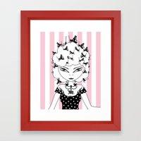 Lady CriCri Framed Art Print