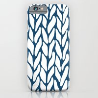 Hand Knitted Navy iPhone 6 Slim Case