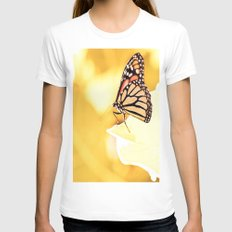 Monarch Womens Fitted Tee White SMALL