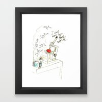 I don't know how love works Framed Art Print