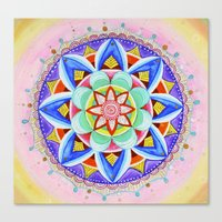 'We Are One' Mandala Canvas Print