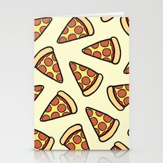 Pepperoni Pizza Pattern Stationery Cards