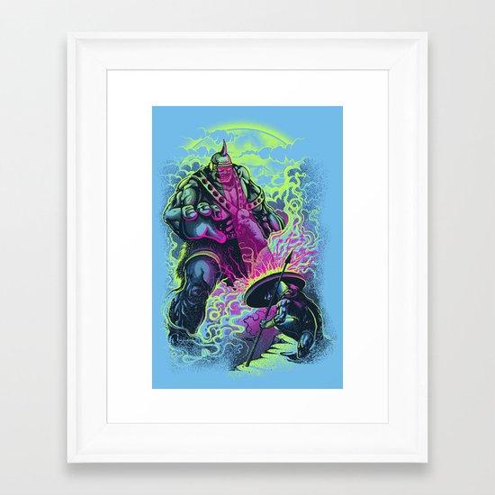Magnysseus vs the Cyclops: X-Odyssey Framed Art Print