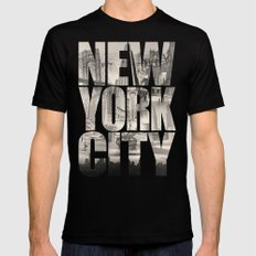 New York City Type SMALL Mens Fitted Tee Black