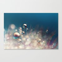 Sparkles & Drops Canvas Print