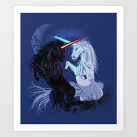 Starwars with Unicorns  Art Print