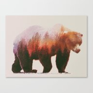 Canvas Print featuring Brown Bear by Andreas Lie