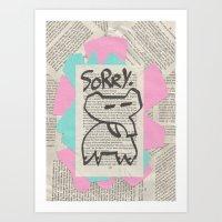 Sorryphant Art Print