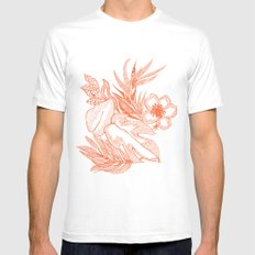 Hawaiian-Spring  White SMALL Mens Fitted Tee