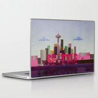 seattle Laptop & iPad Skins featuring Seattle by WyattDesign